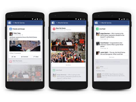 fecebook mobile s android app now includes the trending section