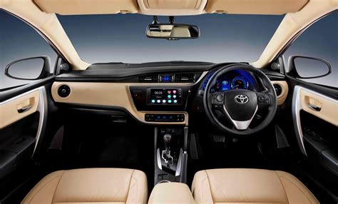 toyota corolla 2017 interior new interior changes in the facelifted toyota corolla 2017