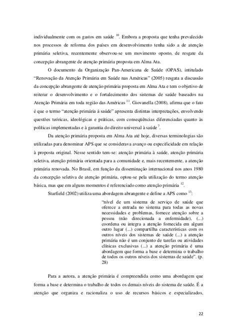 """""""A promoção da saúde na atenção primária do município de"""