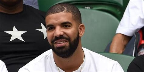 drake moon part haircut drake is at wimbledon and he s come dressed as a tennis