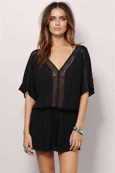 Dress Of The Day Costa Tunic by Trendy Black Day Dress Dolman Tunic Dress 8 00