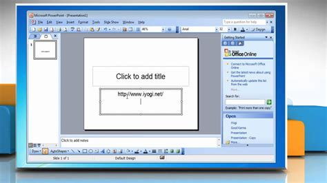 Microsoft 174 Powerpoint 2003 Add Hyperlinks To Presentation Free Powerpoint For Windows 7