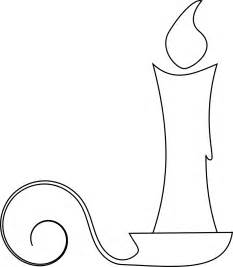 Candle Outline by Festive Freebies Free Digital Sts For Your Crafts Flower Outline