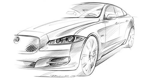 jaguar xj design sketch  giles taylor car body design