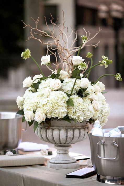 roses and hydrangeas centerpieces hydrangea and urn centerpiece