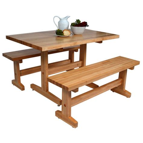 trestle table with bench john boos maple trestle table multiple sizes bench sold