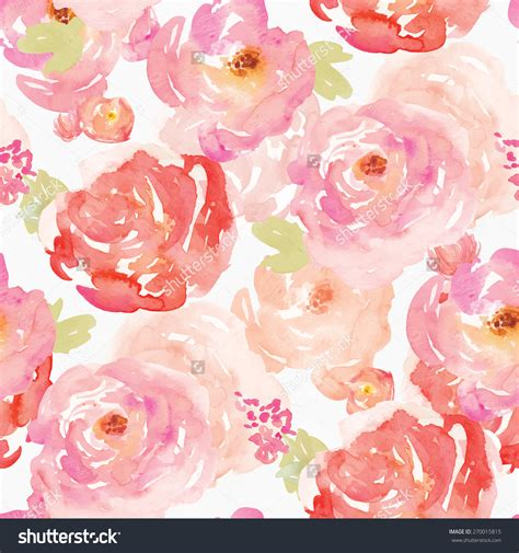 pink watercolor pattern colorful watercolor floral background pattern repeating