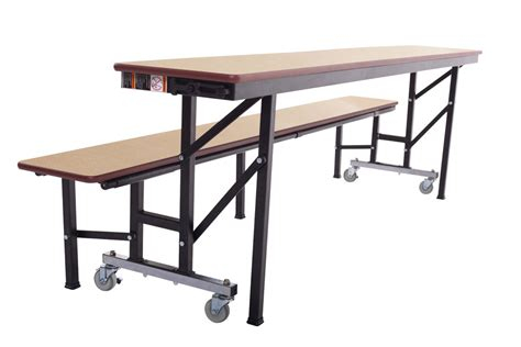 table and l in one amtab acb6 all in one mobile convertible bench table 6 l