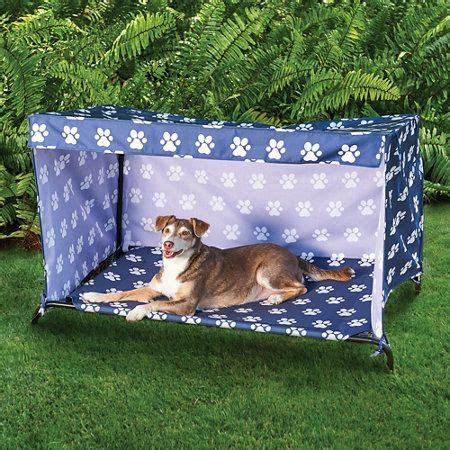 indooroutdoor dog bed canopy cover  shade frame