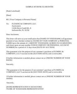 personal guarantee template uk letter of guarantee 15 free sle exle format
