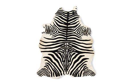 Cowhide Zebra Rug by Zebra Cowhide Rug Design Within Reach