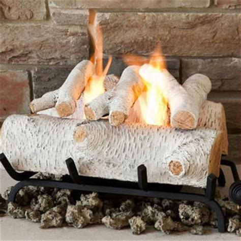 Best Artificial Fireplace Logs by Best Birch Home Decor Products On Wanelo