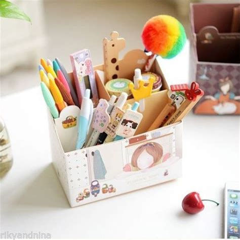 cute pen holder for desk details about floating town pen box kawaii cartoon korean