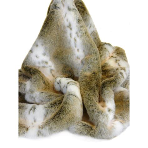 faux fur throw in lynx design luxury throws cuckooland