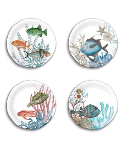 Nice Villeroy And Boch Christmas Decorations #9: Michel-Design-Works-Sea-Life-accent-plates.jpg
