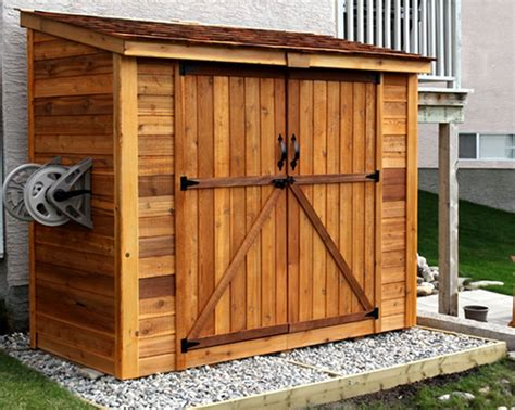 lean  shed spacesaver  double doors outdoor