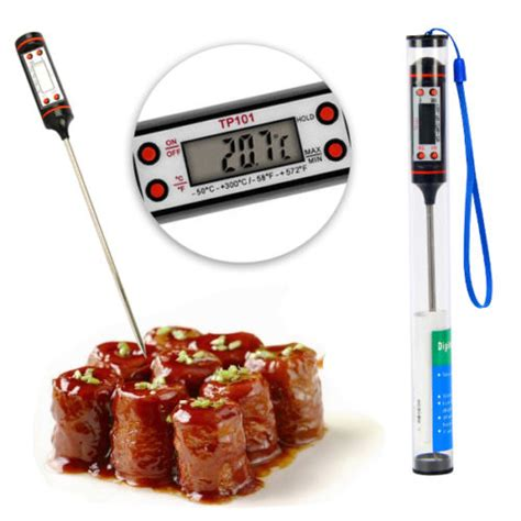 Food Thermometer For Kitchen Cooking Bbq Thermometer Makanan 10128 digital food thermometer for kitchen cooking bbq black jakartanotebook