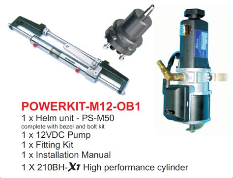 hydrive hydraulic cylinder boat steering hydrive power kit w cylinder marine steering and winches