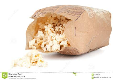 Popcorn In A Paper Bag - popcorn in a paper bag royalty free stock image image