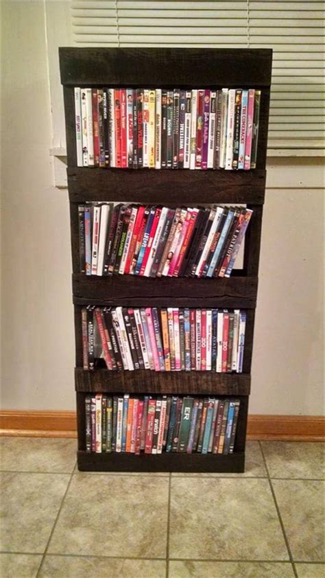 upcycled wooden pallet bookshelf pallet furniture diy