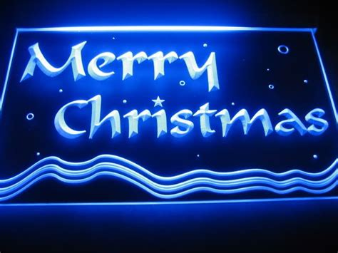 b551 merry christmas neon light sign