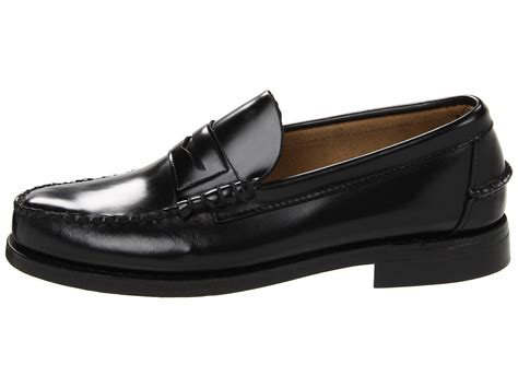 sebago classic in black for lyst