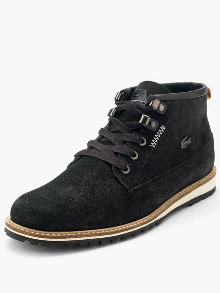 lacoste delevan mens boots in black for lyst