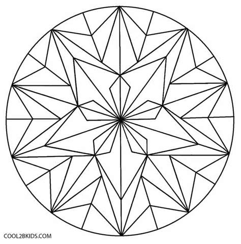 Simple Kaleidoscope Coloring Pages Coloring Pages Geometric Flower Coloring Pages