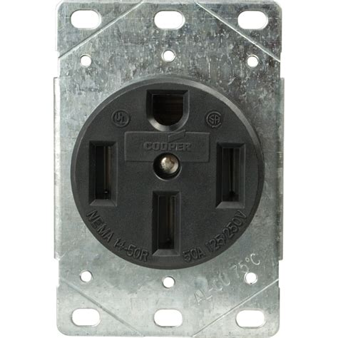 shop cooper wiring devices 50 range power outlet at