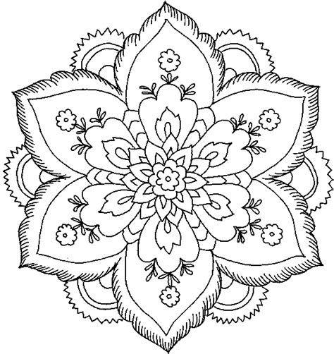 coloring pages of lots of flowers difficult coloring pages for adults hard flower coloring