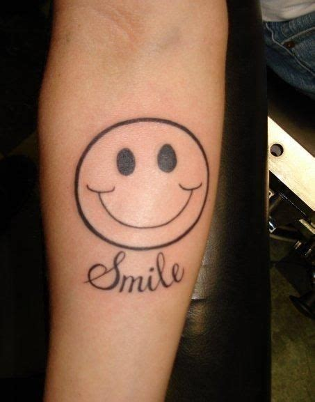 be happy tattoo happy smile tattoos possible