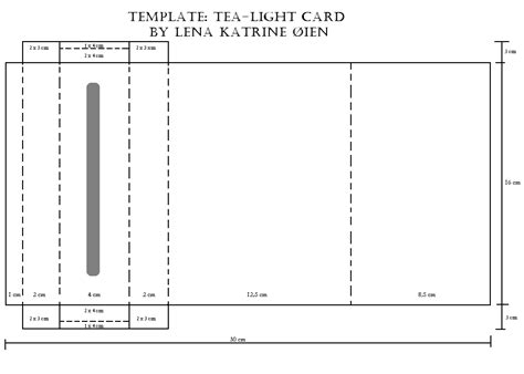 tealight card template whimsical whisper deco tea light candle card