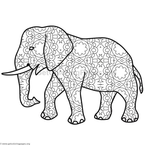 elephant coloring pages  getcoloringpagesorg