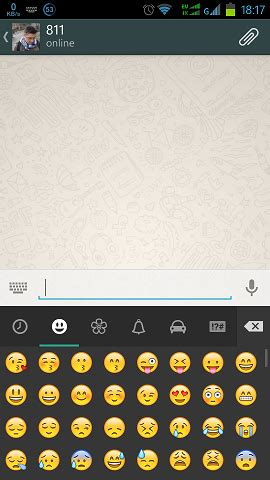 android whatsapp layout emoji how to show my layout in front off soft keyboard