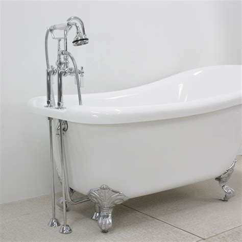 how much water fits in a bathtub hlsl59fpk 59 quot hotel collection single slipper clawfoot tub