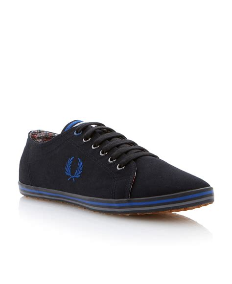 fred perry kingston twill lace up authentic canvas shoes