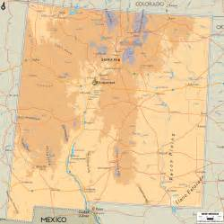 map of new mexico physical map of new mexico ezilon maps
