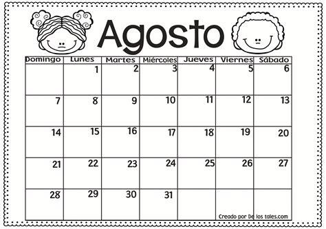 Calendario Con Las Semanas Aã O 2016 De Los Tales 161 Bienvenido Agosto