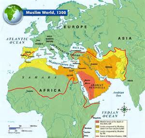 Islamic World Map by The Muslim World 1200 Medieval Life Maps From The