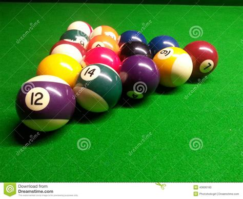 How To Set Up A Pool Table by Pool Balls Stock Photo Image 43606160
