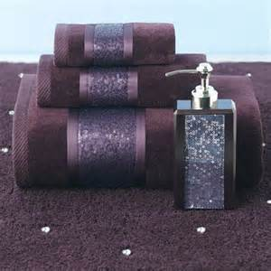 Croscill sequin shimmer eggplant bath collection remodel