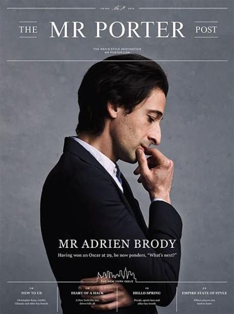 magazine cover layout pinterest adrien brody posts and mr porter on pinterest