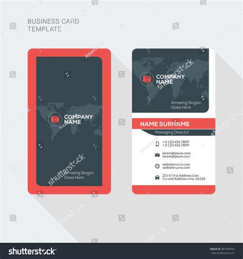 business cards template on canva low res creative and clean business card vector print template
