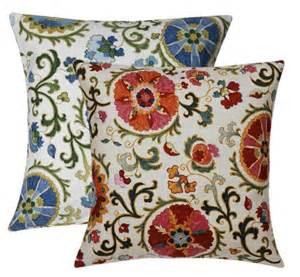 Decorative Throws Suzani Decorative Throw Pillows To Use As Throw Pillows