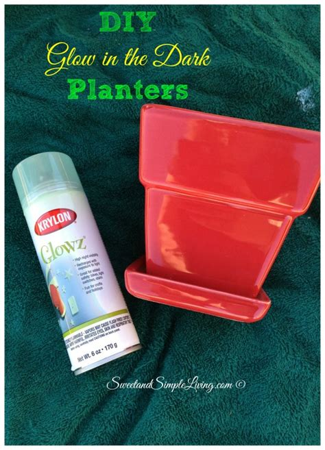 Glowing Planter Pots by Diy Glow In The Planters Sweet And Simple Living