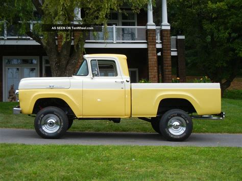 short bed truck resto mod of an 1959 f100 4x4 short bed pickup
