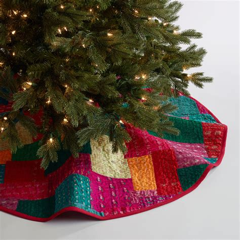 Patchwork Tree Skirt - sari patchwork tree skirt world market