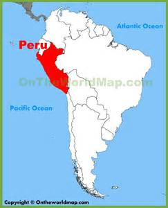 peru map south america peru location on the south america map