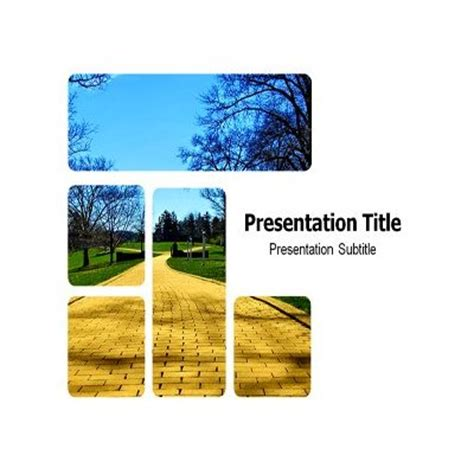 themes powerpoint d p amazon com yellow brick road powerpoint templates