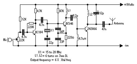 rf transistor fm transmitter circuit zone electronic projects electronic schematics diy electronics